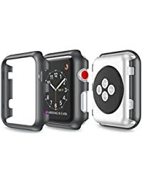 Funda protectora, Magiyard Para Apple Watch Serie 1/2 38mm/42mm (42mm, Negro)