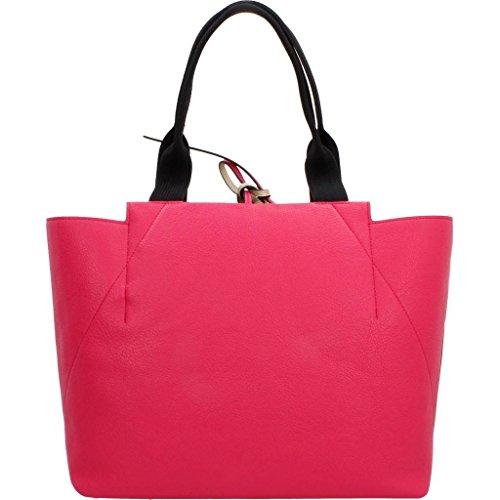 Gli amanti dello shopping e Womens borse a tracolla, colore Rosa , marca CALVIN KLEIN, modello Gli Amanti Dello Shopping E Womens Borse A Tracolla CALVIN KLEIN METALLIC LARGE REV Rosa Rosso (Bright Rose)