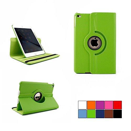 COOVY® Cover für Apple iPad mini 4 Retina ROTATION 360° SMART HÜLLE TASCHE ETUI CASE SCHUTZ STÄNDER | Farbe grün