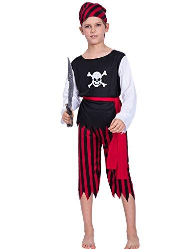 atenkostüm Karneval Party Kostüm Outfit (Pirate Halloween-kostüme Für Jungen)
