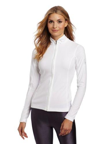 Spyder Damen Shimmer FULL ZIP VELOURS FLEECE T Hals Shirt, damen, weiß