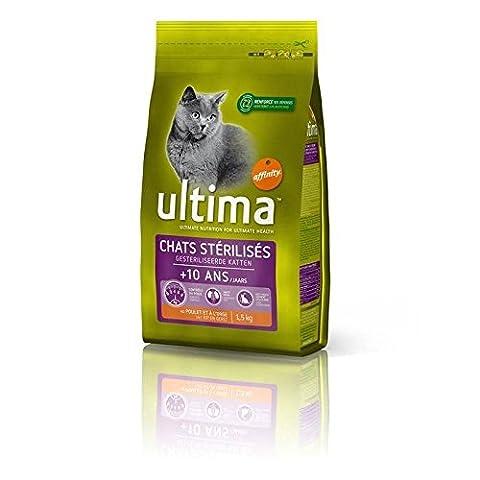 Croquettes Ultima chat sterilises +10 ans 1. 5kg Prix Unitaire - Envoi Rapide Et Soignée