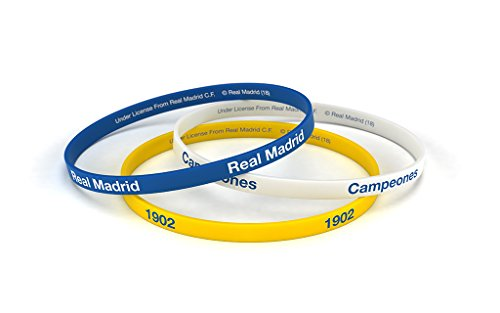 Real Madrid Fußball-Club Classic Tricolor Standard Herrenuhr, Silikon-Armband, Offizielles Lizenzprodukt -