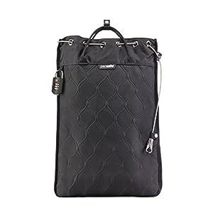 Pacsafe Travelsafe 12L – Mobiler Safe mit TSA-Zahlen Schloß, Trage-Tasche mit Anti-Diebstahl Technologie, 12 Liter Volumen, Schwarz/Black