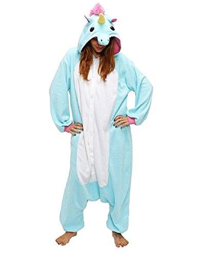 Mcdslrgo-Pijama-enterizo-unisex-de-clido-forro-polar-diseo-de-unicornio