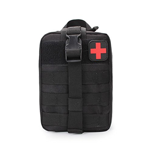 beatsport Sports First Aid Kit Klettern Rescue Tasche Tactical Medical Taschen SURVIVAL Paket, schwarz