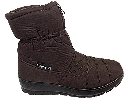 Ladies CW62 Cushion Walk Brown Thermo-Tex Warm Faux Fur Lined Winter Snow...