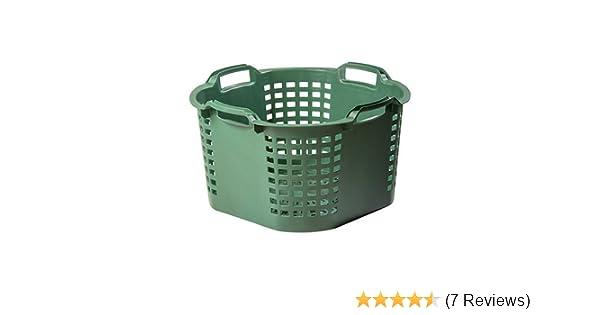 2 x Gartenkorb Erntekorb Korb Kunststoffkorb Grün gelocht 50 Liter Robust