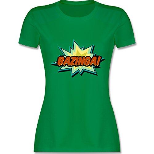 Comic Shirts - Bazinga! - XXL - Grün - L191 - Damen Tshirt und Frauen T-Shirt -