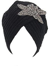Gorros Gorros Moda para Mujer Moda Vintage Mujeres Invierno Cálido Basic  Turbante Tocado Gorros Gorros Ropa 800c04779c3