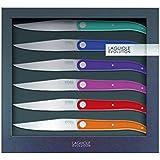 Laguiole Evolution 449180 Coffret de 6 Couteaux Steak Sens Multicolore