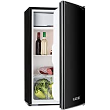 Klarstein Spitzbergen Uni Nevera con congelador (capacidad 90 litros, clase energética A+, refrigerador compacto) - Negro