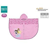 PERLETTI 99136 Raincoat Poncho Princesses, Multi Colour, One Size