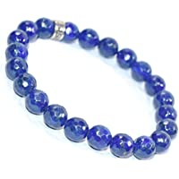 Bracelet Lapis Lazuli Natural Diamond Cut 8 MM Birthstone Handmade Healing Power Crystal Beads preisvergleich bei billige-tabletten.eu