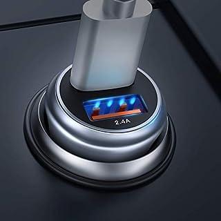 Quick Charge 3.0 Auto Ladegerät, QC 3.0 USB Auto Adapter KFZ Ladegerät 2-Port 30W Aluminium-Legierung Gehäuse Autoladegerät für Phone XR, Galaxy S8/S7, Huawei P9/P10 Galaxy S8 / S7 (Gris) –MEHRWEG