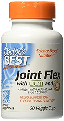 Doctors Best Joint Flex with UC-II & Curcumin C3 Complex - 60 Vegicaps (with UC-II & Curcumin C3 Complex, 3mg, 60 Vegetarian Capsules) by Doctors Best