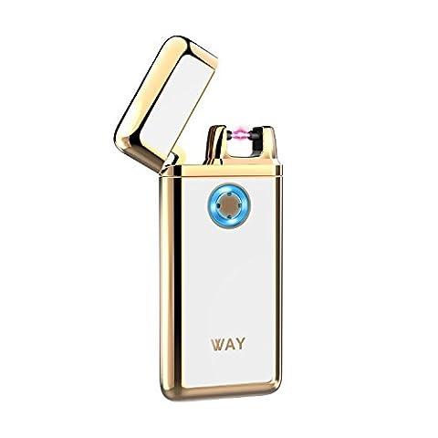 Briquet Usb,VVAY Briquet Arc Electrique,Briquet Rechargeable d'Anti-vent,Sans Flamme,Allumer Tout