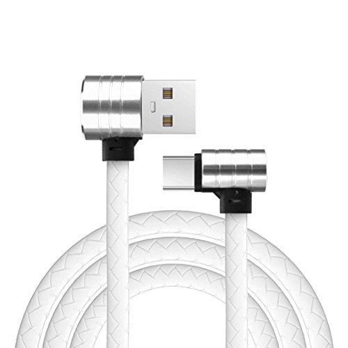 5000 Series Laptop-festplatte (USB Type C Kabel, CICIYONER L Form 90 Grad 1M Micro IOS Ladedaten Schnellladekabel für Samsung S8 (1M, Weiß))