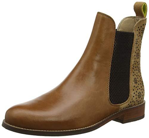 Joules Damen Westbourne Chelsea Boots, Braun (Tan Geo Laser Cut Tangelo), 40/41 EU