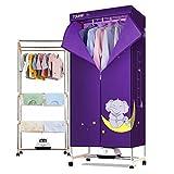 GUO@ 1200W Multifunktions-Wäschetrockner Baby Kleidung Desinfektion Schrank Unterwäsche spezielle Garderobe mit Timing-Heizung Wäschetrockner (Farbe : Purple, größe : Aluminum alloy)