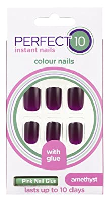 Perfect 10 Amethyst Coloured False Nails by Original Additions