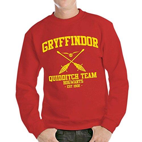MUSH Sweatshirt Gryffindor Quidditch Harry Potter - Film by Dress Your Style - Herren-M-Rot