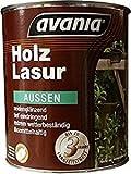 Avania Holzlasur , Teak / 5 L / Holzschutzlasur auf Kunstharzbasis ( lösemittelhaltig ) / extrem wetterbeständig / mit Langzeitschutz / für aussen / seidenglänzend /