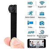 WIFI Mini Telecamera Spia,HD1080P Nanny Cam Telecamera di Sicurezza Wireless Rilevazione del Movimento Visualizzazione Remota per iPhone/Dispositivo Android Home Video Sorveglianza Registratore