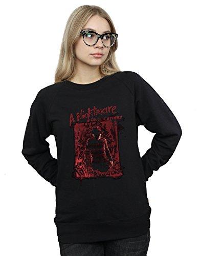 Absolute Cult Nightmare on Elm Street Women's Freddy Silhouette Sweatshirt