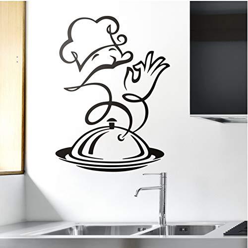 wmyzfs Sticker Gourmet Deli Küche Dekoration Fototapete Vinyl Wandtattoos Hauptdekoration abnehmbare Tapete Hauptdekoration 37x50cm -