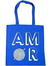 HippoWarehouse Amor Crocheting Bolso de Playa Bolsa Compra Con Asas para gimnasio 42cm x 38cm 10