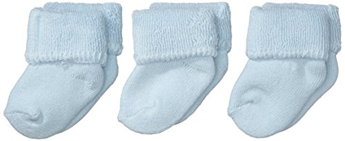 Sterntaler Baby - Jungen Socken Erstlingssöckchen, 3Er Pack, Einfarbig, Gr. Neugeborene, Blau (Bleu 313) (Baby-socken Neugeborene)