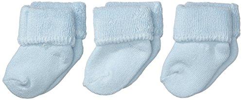 Sterntaler Erstlingssöckchen 3-er Pack, Alter: ab 0 Monate, Größe: Neugeborene (Herstellergröße 0), Hellblau (Bleu)