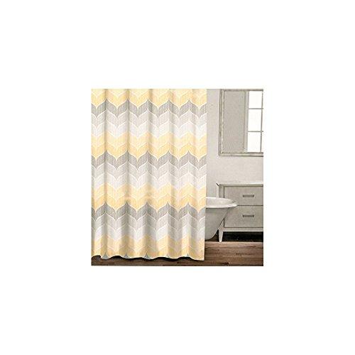 Curtains Ideas chevron stripe shower curtain : Caro Home 100% Cotton Shower Curtain Wide Stripes Chevron Fabric ...