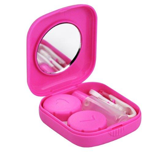Sonline Kontaktlinsen Pink Mini Travel Kit Case - Taschenformat