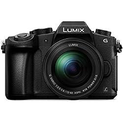 """Panasonic Lumix dmc-g80mec-k-kit de caméra Evil avec Objectif F3.5-5.612-60mm (écran de 3"""", stabilisé Optique, 4K, WiFi), Couleur Noir"""