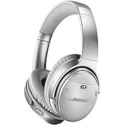 Bose Casque sans fil à réduction de bruit QuietComfort 35 II avec Amazon Alexa intégré - Argent