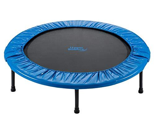 Upper Bounce - Mini Trampolín Cama Elástica para Fitness, Entrenamiento, Cardio, Ejercicio en Gimnasia, Casa - Plegable - 122 cm