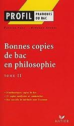 Bonnes copies de bac en philosophie : Tome 2