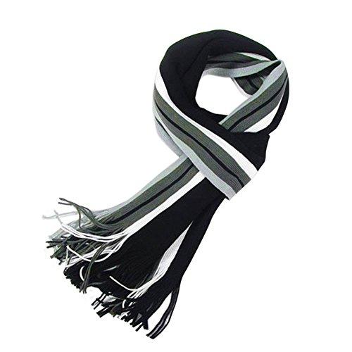 Andy's Share Fashion klassische Streifen lange Weich Wrap Strickschal Schal für Herren (Mehrfarbig)