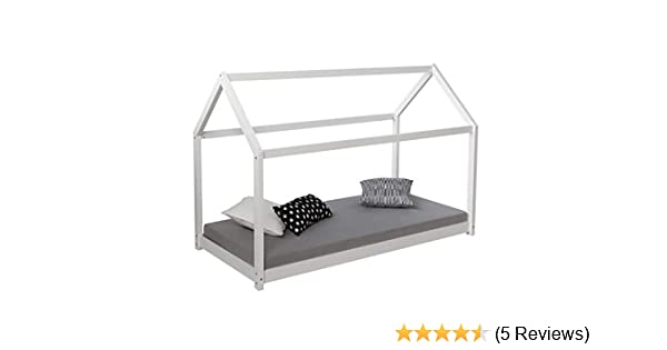 Amazon De Homestyle4u 1849 Kinderbett Mit Lattenrost Hausbett