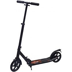 Bibee Start - Trottinette adulte adolescent grande roue pliable avec béquille - Hauteur du guidon ajustable et réflecteur arrière sur garde boue