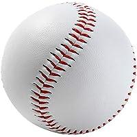 geshiglobal 22,9cm Doux Durable Sport compétition Practise Ballon d'entraînement de Baseball Softball–Blanc + Rouge