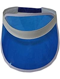 Wicked Fun Visor Hat 1980s Dance Unisex Sun Visor Poker Hat Golf Tennis Cap Headband (Blue)