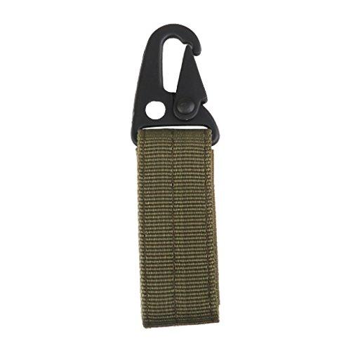 Molle Tattico Appesa Moschettone Cintura Chiave Gancio Tessitura Fibbia Verde Militare