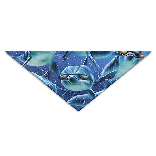 Sdltkhy Funny Dolphins Picture Triangle Pet Scarf Dog Bandana Pet Collars Dog Cat - Birthday