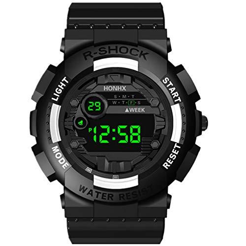 Pvc-stretch-slip (Armband für Herren/Skxinn Männer Digital LED Uhrenarmband,Mode Outdoor Sportuhr,Luxury Electronic Herrenuhr Ausverkauf(Weiß))