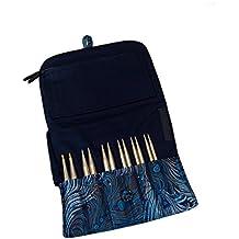"""HiyaHiya - Set de agujas para tejer (acero inoxidable, 4""""/12,7 cm, intercambiables, tamaño pequeño)"""