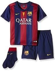 Nike FCB LT Boys Home Kit - Conjunto para niño, color azul, talla XS