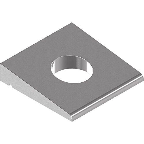25 Stück Vierkant-Keilscheiben DIN 435 - Edelstahl A4 f.I-Träger - 13,5 f.M12